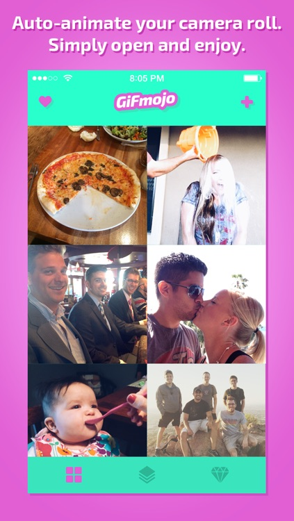 GiFmojo - Automatically turn the photos in your camera roll into funny animated gifs and videos