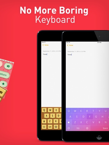 Color Keyboard Themes Pro - new keyboard design & backgrounds for iPhone, iPad, iPod ipad images