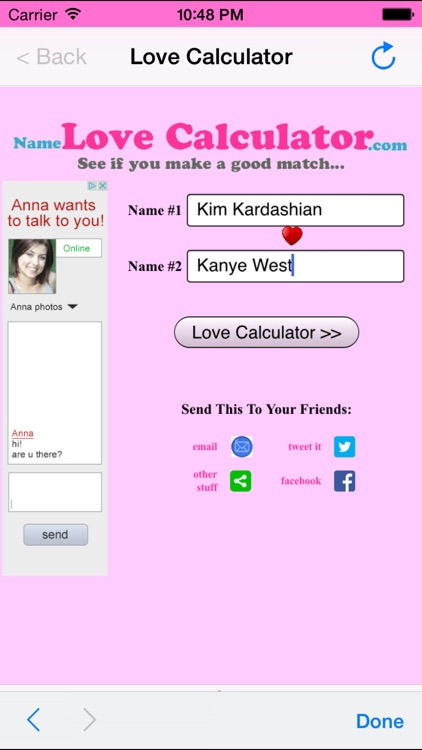 Love Calculator by Name by Youth Media Network
