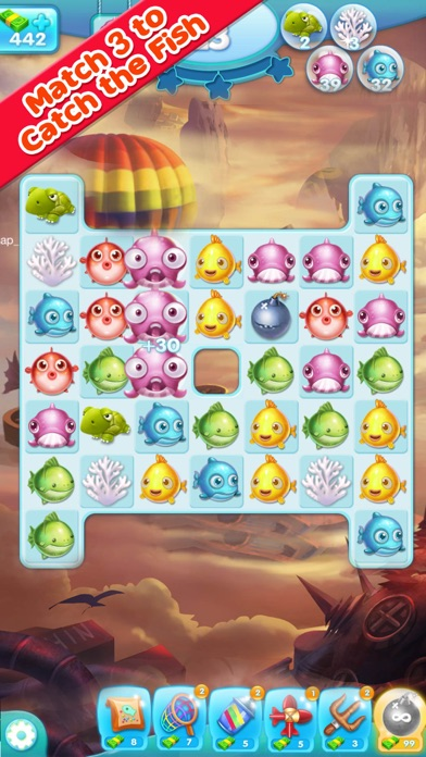 Marine Adventure -- Collect and Match 3 Fish Puzzle Game for TANGO screenshot two