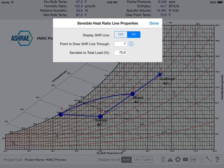 HVAC Psychrometric Chart screenshot-3