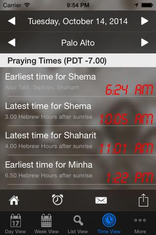 Pocket Luach Deluxe - The Jewish Calendar (siddur, zmanim) screenshot 2