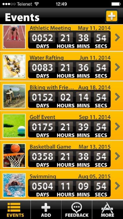 Sporting Event Countdown (Soccer,Hockey,Tennis,..)