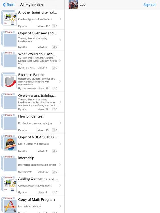 LiveBinders screenshot-4
