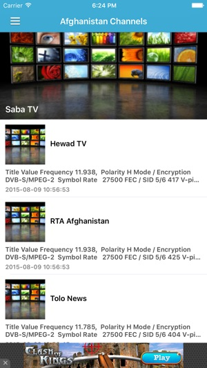 Afghanistan TV Channels Sat Info on the App Store