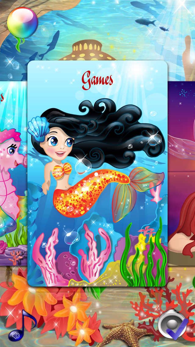 Mermaid Princess Coloring Pages for Girls and Games for ...