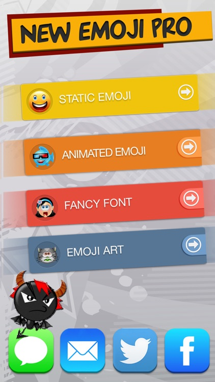 New Emoji Pro - Animated Emojis Icons, Fonts and Cartoons - Emoticons Keyboard Art screenshot-0