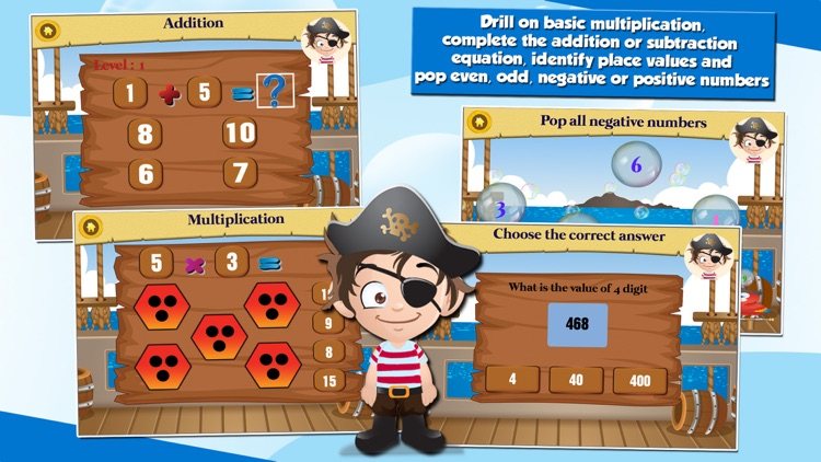 Pirate Kids 2nd Grade Math and English Educational Games School Edition