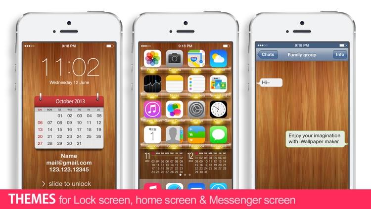 iWallpaper Maker Lite :  Custom Wallpaper theme ( for home screen, lock screen, kakao, whatsapp ) screenshot-3