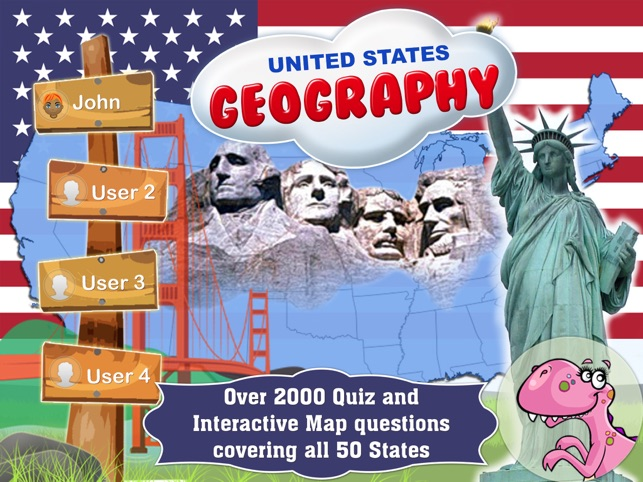 Geography Of The United States Of America Map Learning And Quiz - Geography quiz game