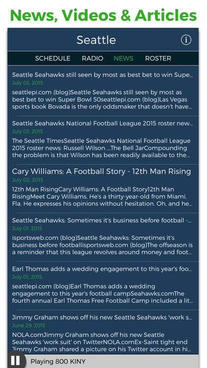 Seattle Football Radio & Live Scores screenshot-3