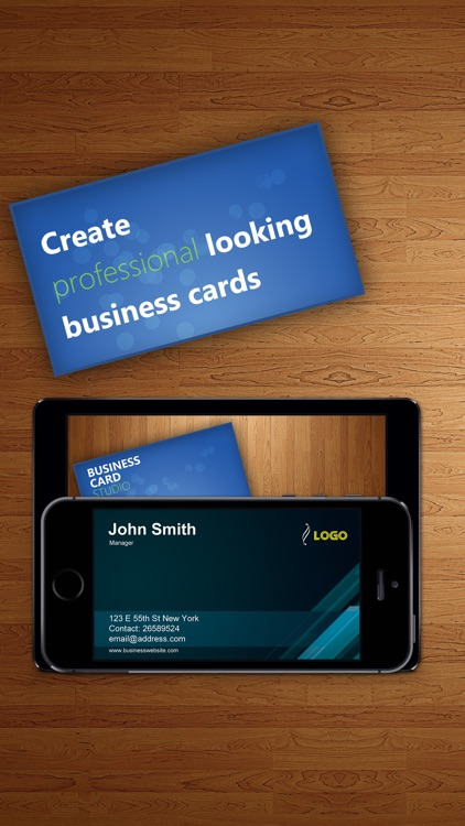 Business Card Studio Designer - Graphic Creator, Editor & Maker with Logos & Icons