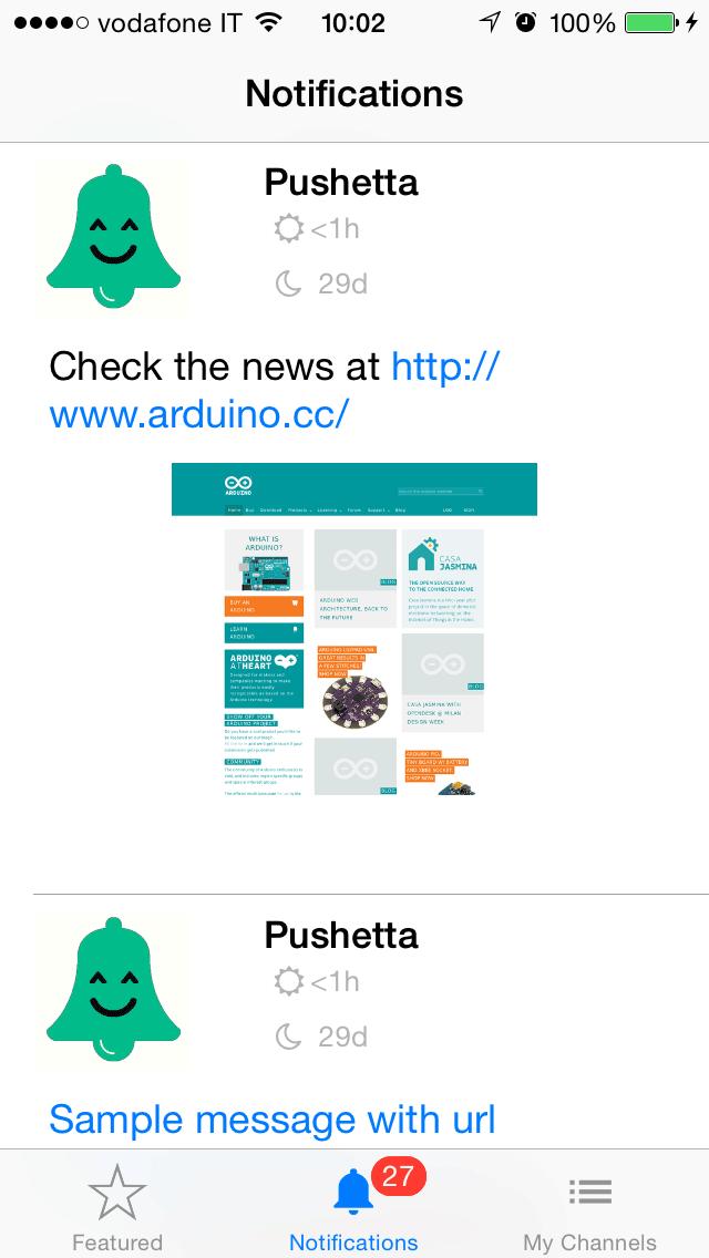 Pushetta screenshot one