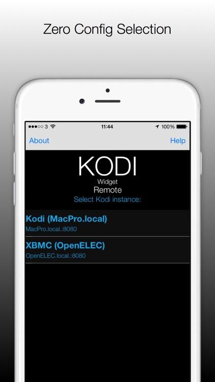 Kodi / XBMC Remote Control Widget