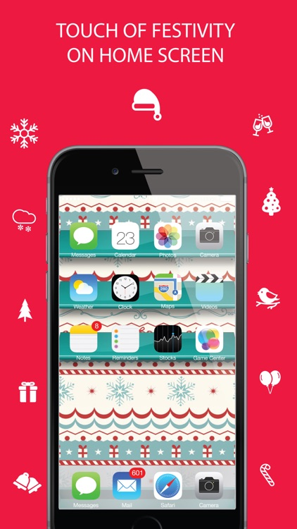 Christmas Wallpaper ® - Beautiful HD Xmas, santa claus, ornaments, design, themes, frames, shelves & backgrounds screenshot-4