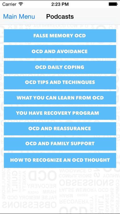 Health ( Contamination ) OCD Recovery Mobile screenshot-4