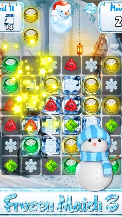 この休日のカウントダウンの一致雪や凍結した宝石 - 雪だるまのゲームとクリスマスパズルのおすすめ画像1