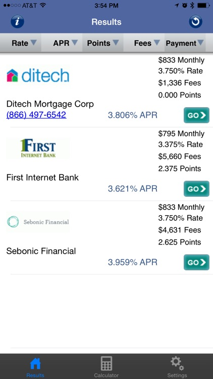 Mortgage Rates, Credit Card Rates and Mortgage Calculator screenshot-0