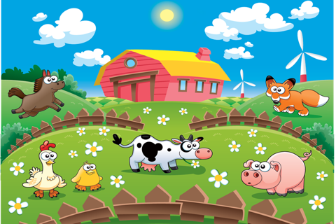 Animal sounds puzzle for kids - náhled