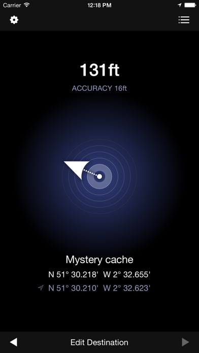 Geocaching Compass review screenshots