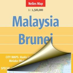 Malaysia, Brunei. Tourist map.