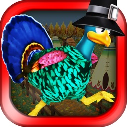 3D Turkey Run Thanksgiving Infinite Runner Game FREE