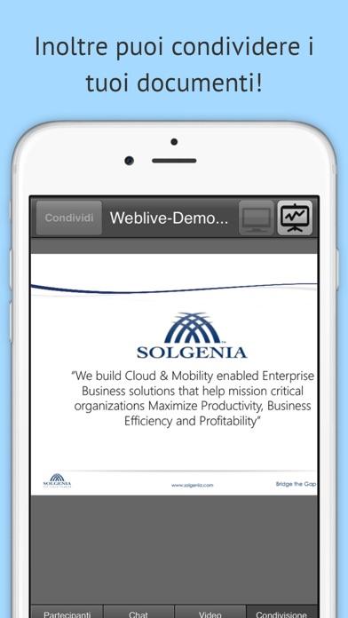 Screenshot of WebLive4
