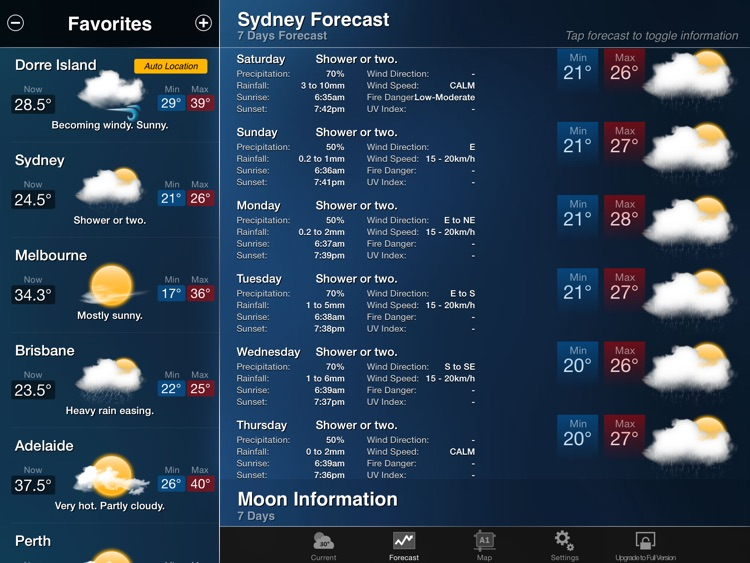 AUS Weather for iPad screenshot-1