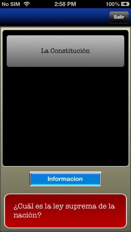 Examen de ciudadanía en español