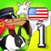 """儿童英语 1- Mingoville中的""""动物ABC"""" - 益智游戏立志于教给儿童6-12个和动物有关的英语动词,名词和副词而开发。其中更包含25种不同语种的字典和互动帮助儿童更好地学习发音,听力和写作。"""
