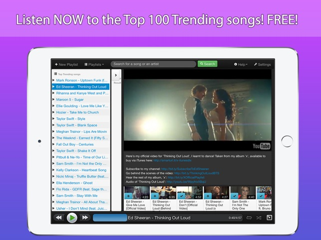 StereoTube Music Player for YouTube & VEVO! Stream playlists of free mp3  songs & videos!