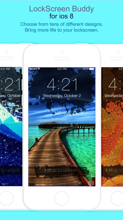 LockScreen FancyLock for iOS8 - Pimp your lock screen wallpaper and customize it with new colorful themes and styles
