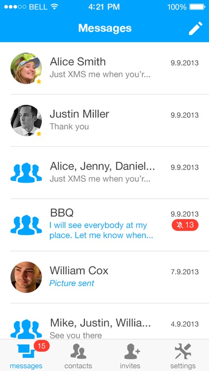 XMS - Unlimited messaging. screenshot-3