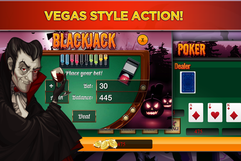 The Halloween Witch Girl's Hot Sexy Slot Casino - Haunted Pumpkin Slots Mania screenshot 4