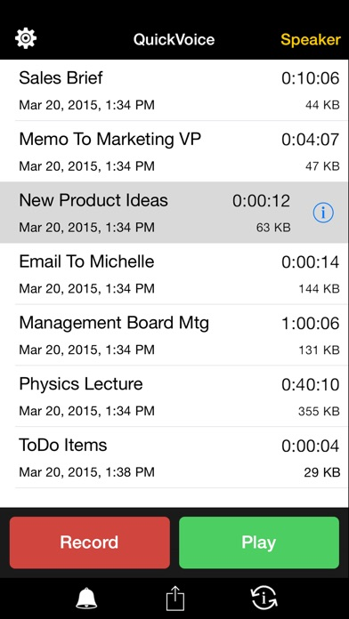 QuickVoice® Recorder screenshot three