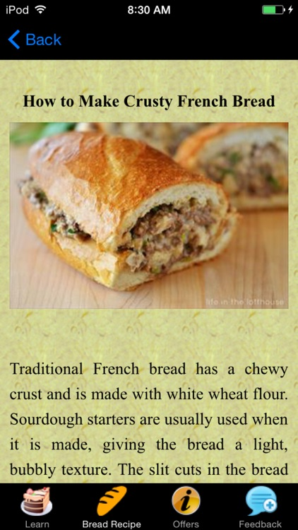French Bread Recipes - Homemade screenshot-3