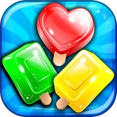 Frozen Ice-cream Puzzle - match-3 candy game for soda mania'cs gratis