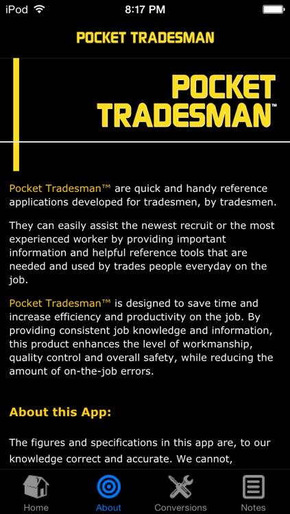 Pocket Tradesman™ Pipefitter Edition