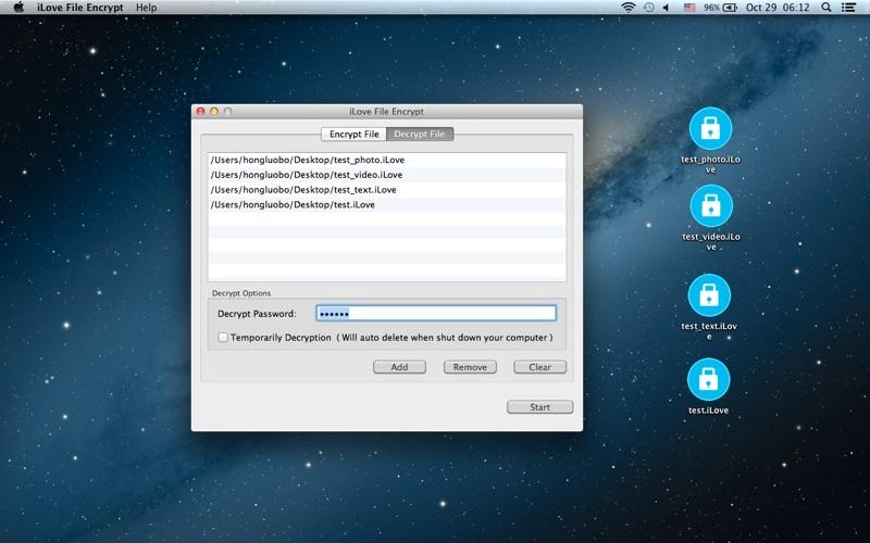 iLove File Encrypt for Mac