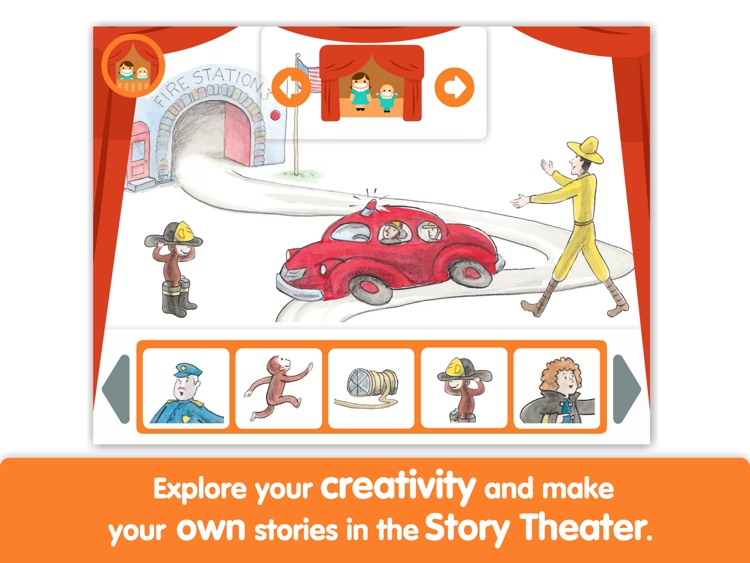Curious George and the Firefighters by i Read With screenshot-3