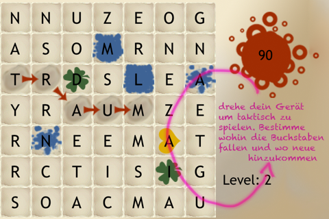 Words German - The rotating letter word search puzzle board game screenshot 2