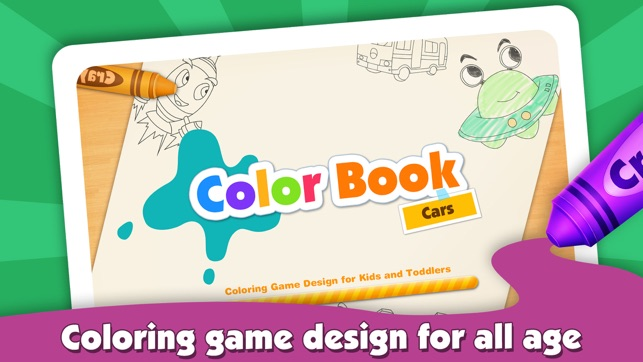 Kids Color Book: Cars - Educational Coloring & Painting Game ...