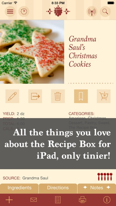 The Recipe Box To Go Your Pocket Your Recipes review screenshots