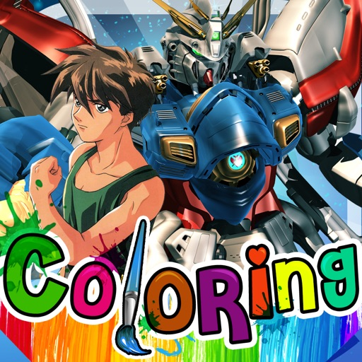 Coloring Anime and Manga Book : Japanese Robot Pictures Painting on Mobile Suit Gundam