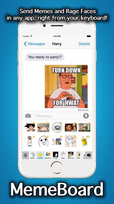 MemeBoard - Rage Faces, Memes, Stickers And Emoji Keyboardのおすすめ画像1