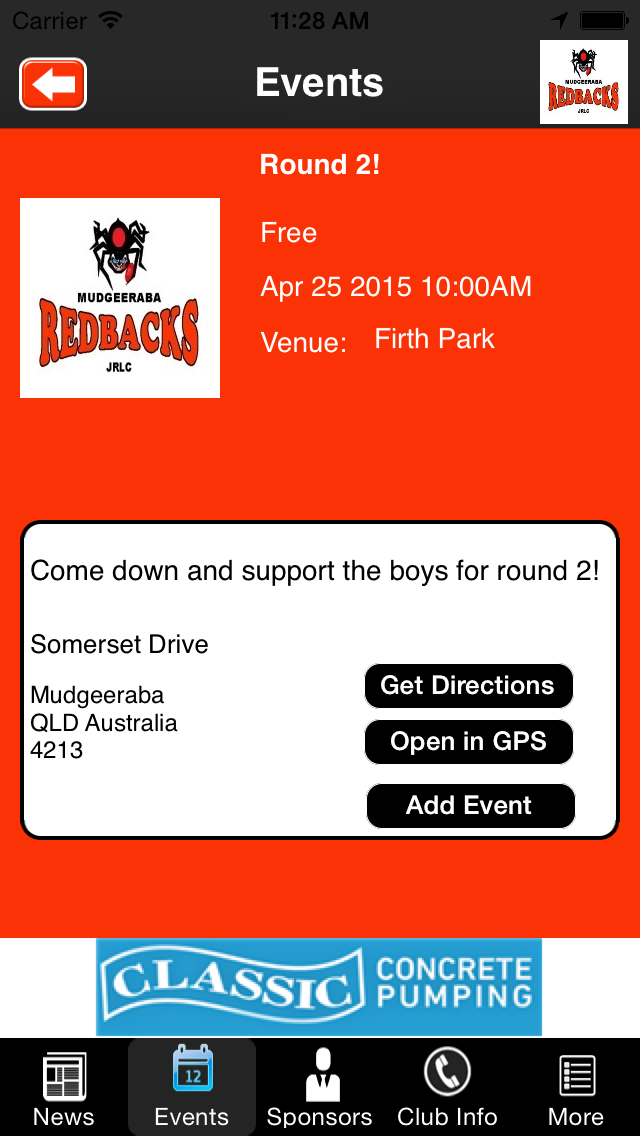 Mudgeeraba Redbacks Junior Rugby League Club screenshot three