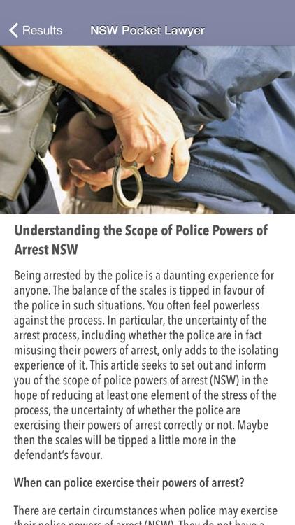 NSW Pocket Lawyer screenshot-3