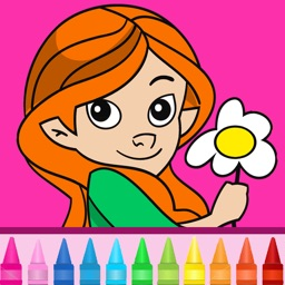 Coloring book for girls: Coloring pages for finger painting with fashion, cats, ponies & more!