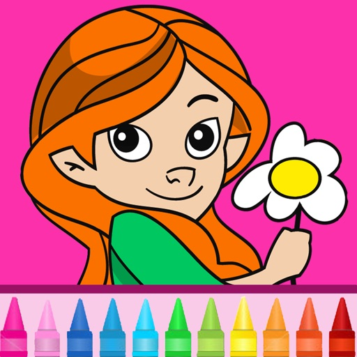 Coloring book for girls: Coloring pages for finger painting with fashion, cats, ponies & more! iOS App