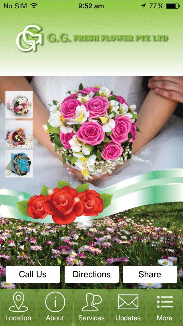 G.G Fresh Flower Pte Ltd Screenshot on iOS